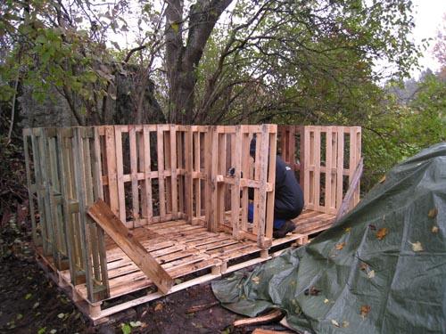 bygga med lastpallar