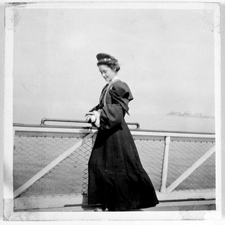 Ingeborg på väg till Amerika