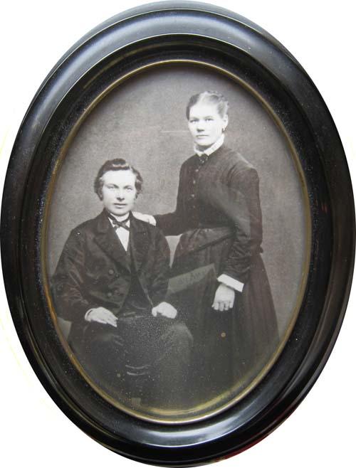 Johan Olausson och Fredrika Olofsdotter 1875