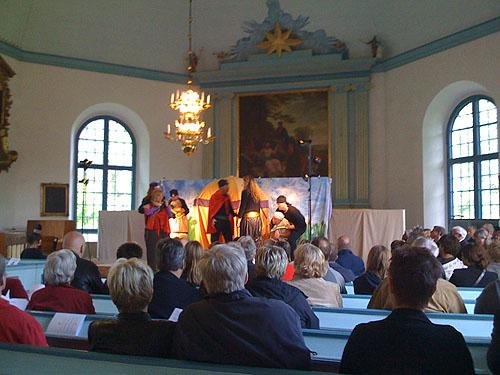 Musikal i Västrums kyrka.