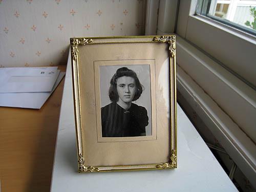Mamma i tonåren på 40-talet.