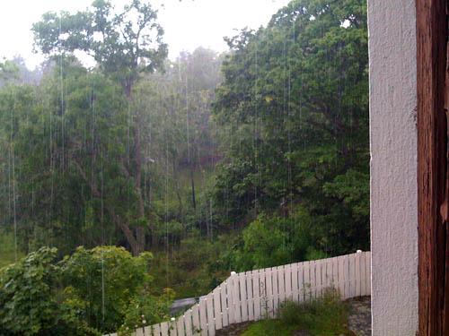 Åskregn.