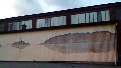 Väggmålning på södra sidan av Järnet.