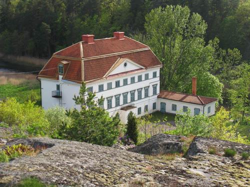 Inzoomning på slottet från Tornkullen.