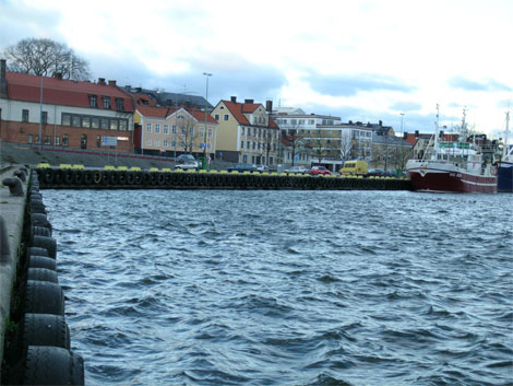 Högvatten i Västervik 2007-01-19.