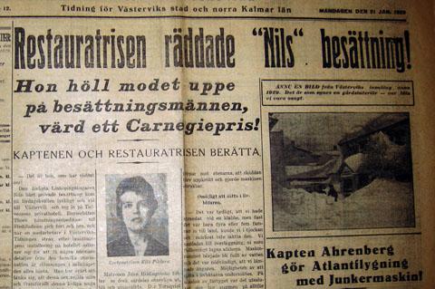 Västerviks-Tidningen den 21 januari 1929.