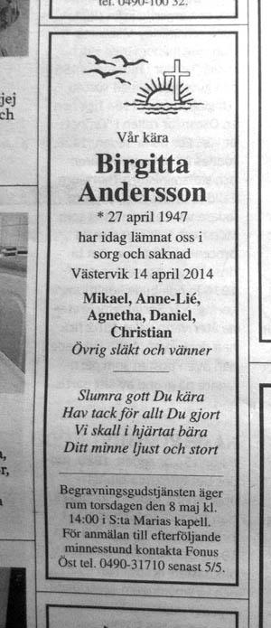 Birgittas_dödsannons